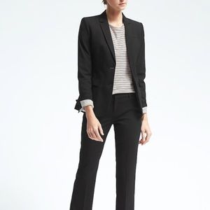 Express Stretch Wool Blazer - Charcoal/Black